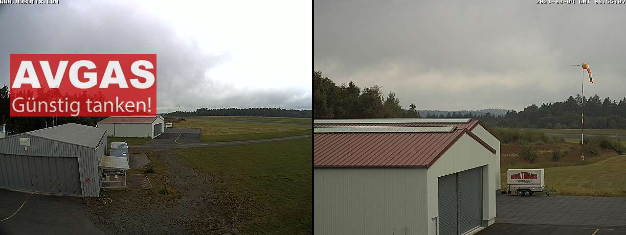 Webcam Flugplatz Kulmbach - Blickrichtung West